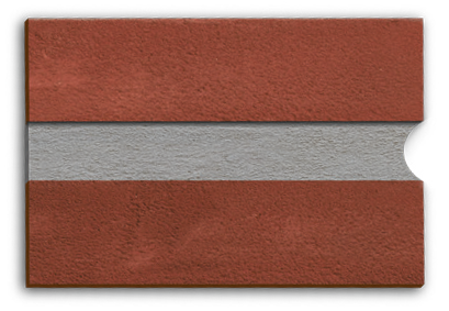 Bucket handle mortar joint from Forterra Building Products
