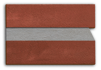 Weathered struck mortar joint from Forterra Building Products